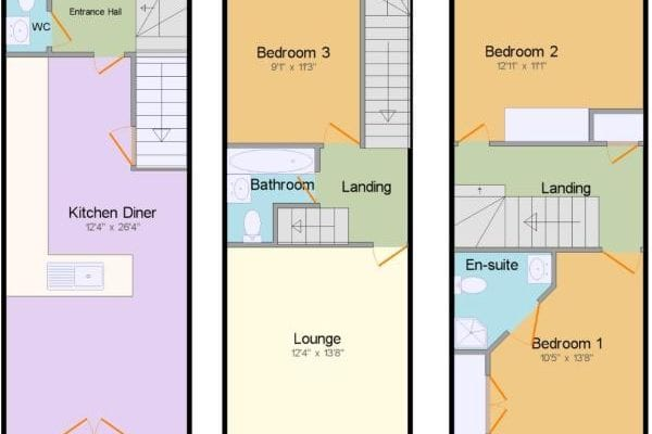 Guillemot Close, Stowmarket, Suffolk, IP14 floorplan 1