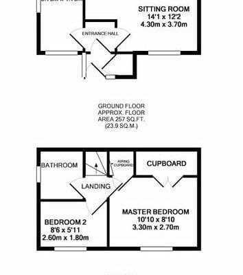 greenacres, old newton  floorplan 1